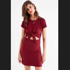 UO Tie-Front T-Shirt Dress